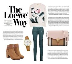 """""""The Loewe Way"""" by andrea-valdes16 on Polyvore featuring moda, Tommy Hilfiger, Loewe, Balmain y Burberry"""