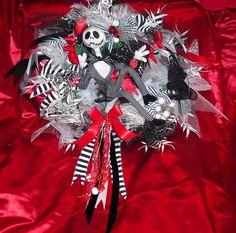 #Jack #Skellington #wreath #baubles #soft #Jack #toy #Nightmare before #Christmas #decoration #Halloween