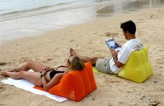Outdoor Beach Back Pillow ~ Cool Gifts | ShitYouCanAfford.com :: Best Products On Amazon For 20 Dollars Or Less
