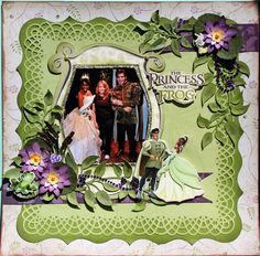 The Princess & The Frog.  Love the lattice mat frame.  Especially love using the sticker characters with the picture.