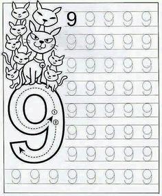 New System-Suitable Numbers Line Study - Preschool Children Akctivitiys Preschool Writing, Numbers Preschool, Preschool Education, Learning Numbers, Preschool Printables, Preschool Lessons, Preschool Learning, Kindergarten Math Worksheets, Worksheets For Kids