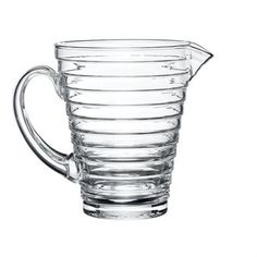 iittala Aino Aalto Pitcher Aino Aalto, wife of esteemed architect and glass designer Alvar Aalto, won the 1932 iittala-Karhula design competition in Finland and the gold prize at the Milan Triennale in 1936 for her functionalist. Carafe, Clear Glass, Glass Art, Alvar Aalto, Glass Pitchers, Nostalgia, Design Competitions, Simple Elegance, Kraut