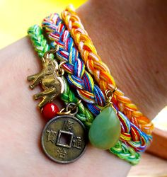 Simple braided bracelets