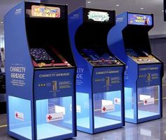 arcade games in Sweden that collect money for charity