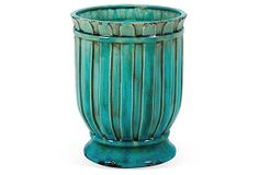 """16"""" Planter, Aqua Blue on OneKingsLane.com"""