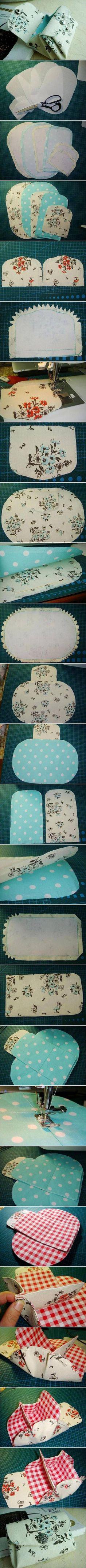 DIY Fabric Folding Purse: