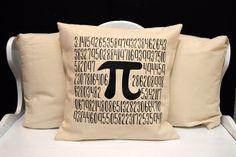 Pi Pillow, Science Pillow, novelty throw pillow, pillow gift, nerd gift, nerd pillow, modern home decor, 20x20, Nerdy Pillow, Pi day, 3.14