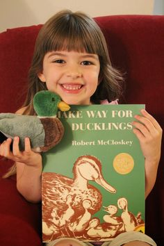 Our latest FIAR read was Make Way for Ducklings  by Robert McCloskey, a book we have treasured for years now.  It was fun to really dig in...