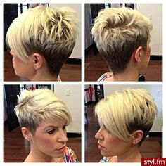 Short layers, longer in front;