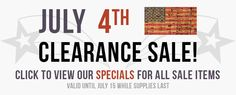 july 4th sales 2013
