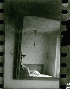 Untitled (Self Portrait, Cover), c.1942. Saul Leiter: Early Black and White, Steidl / Howard Greenberg Library #photographer #photography #bw