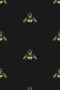 Black bee wallpaper