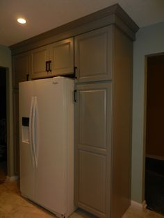 Kitchen Cabinets Around Fridge cabinets like this might work around the lonely refrigerator