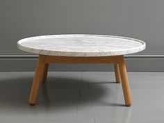 G&T by Bethan Gray Carve Coffee Table Round  - walnut base available