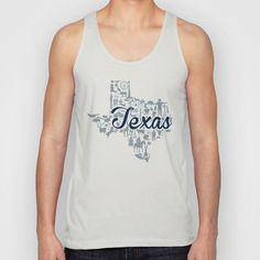 Dallas Cowboys Texas Landmark State - Gray and Blue Dallas Cowboys Theme Unisex Tank Top by Painted Post