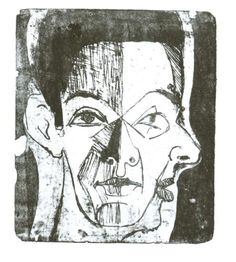 Study of a Head - Ernst Ludwig Kirchner