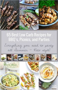 65 Best Low Carb BBQ, Picnic and Party Recipes ibreatheimhungry.com