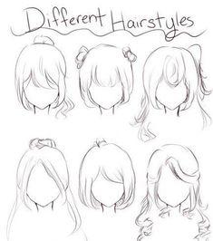 New hair drawing simple anime art Ideas Anime Drawings Sketches, Pencil Art Drawings, Anime Sketch, Kawaii Drawings, Manga Drawing, Drawing Tips, Cute Drawings, Anime Hair Drawing, Anime Drawing Tutorials
