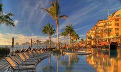 The beach chairs await... at Villa del Arco Beach Resort & Spa  #loscabos