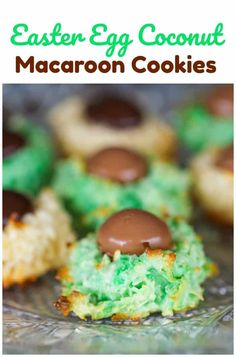 (I used dove easter assorted springtime mix chocolate candy, ounce pkg for this recipe, but feel free to use whatever you like for the center or enjoy Macaroon Cookies, Coconut Cookies, Coconut Macaroons, Sugar Cookies, Dove Chocolate, Easter Chocolate, Easter Candy, Easter Eggs, Easter Food