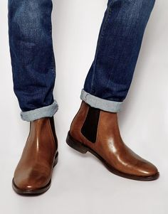 Discover the latest range of men's Chelsea boots with ASOS. Select from suede Chelsea boots to leather, in black, brown and tan. Available today at ASOS. Brown Chelsea Boots Outfit, Brown Leather Chelsea Boots, Brown Ankle Boots, Cow Leather, Real Leather, Asos, King Shoes, Shoe Boots, Sneakers