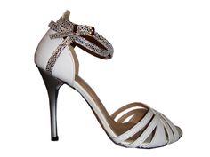 SOY PORTEÑO - 91 Blanco Plata :: $189.99 www.argentinatangoshoes.com/women #argentina #tango #dance #shoes #women