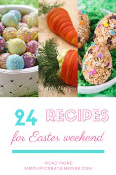 Delicious and easy to make Easter recipes for entertaining or celebrating at home. There are Easter appetisers, mains, desserts and fun ideas to take to events. These recipes have you covered for Easter Sunday and beyond. #easterrecipes #easterplanning #foodforeaster