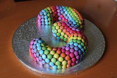 First Birthday Cakes For Boys Cupcake Cake Designs, Cupcake Cakes, Smarties Cake, Chocolates, 3rd Birthday Cakes, Birthday Ideas, Birthday Parties, Candy Cakes, Number Cakes