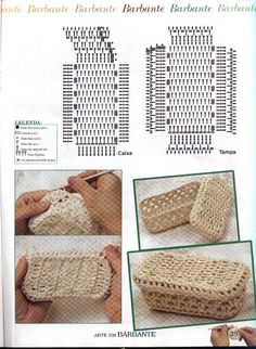 Interesting ideas for decor: Crochet baskets. Crochet Sheep, Crochet Box, Crochet Pillow, Crochet Diagram, Freeform Crochet, Crochet Chart, Crochet Patterns, Crochet Baskets, Crochet Handbags