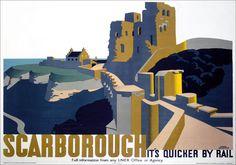 scarborough-castle-yorkshire.-lner-vintage-travel-poster-by-frank-newbould.-1934-536-p.jpg (624×437)