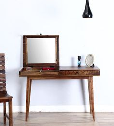 Bakersfiled Dressing Table in Provincial Teak Finish by Woodsworth