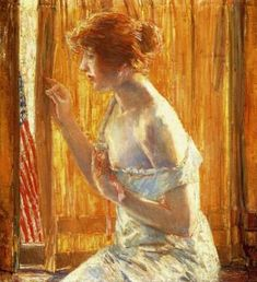The Flag Outside Her Window, April 1918 - Childe Hassam - The Athenaeum