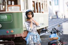 Cristina Ferreira   Lisboa   Look   Fashion   Daily Cristina   Street Style   Vestido Imperial   Sahoco   Casiraghi   Adidas   Rayban   mota   motocycle   Guzzi