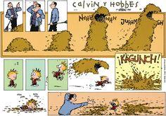 Today on Calvin and Hobbes en Español - Comics by Bill Watterson Calvin Y Hobbes, Calvin And Hobbes Quotes, Hobbes And Bacon, John Calvin, My Calvins, Humor Grafico, Fun Comics, The Funny, Funny Happy
