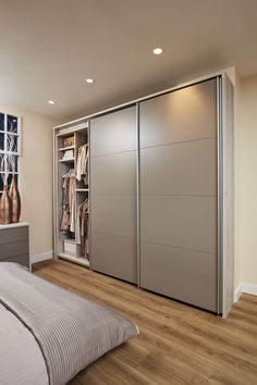52 Popular Wardrobe Design Ideas In Your Bedroom. The most essential and important aspect of your bedroom includes your bed and bedroom wardrobe. Wardrobes give you extra storage capacity in your room. Wardrobe Interior Design, Wardrobe Design Bedroom, Bedroom Closet Design, Bedroom Furniture Design, Home Room Design, Furniture Layout, Bedroom Cupboard Designs, Bedroom Cupboards, Sliding Door Wardrobe Designs
