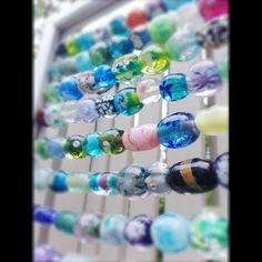 Glass beads are so beautiful  in the sun plus this seems easy