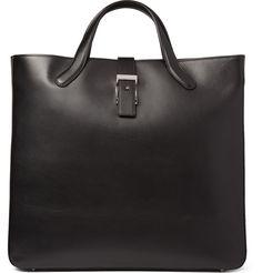 eeaf87cda Bill Amberg Suede-Lined Leather Tote Bag | MR PORTER Black Leather Bags,  Best