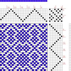 Hand Weaving Draft: Page 109, Figure 2, 16 Harness Patterns - The Fanciest Twills of All, 8S, 8T - Handweaving.net Hand Weaving and Draft Ar...