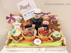 Diy Gift Baskets, Food Gifts, Make A Wish, Lunch Box, Packaging, Breakfast, Hamper, Gift Ideas, Gifts