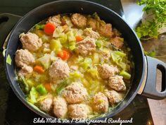 Edels Mat & Vin: Grønnsaksuppe med kyllingboller ! Curry, Ethnic Recipes, Food, Curries, Essen, Meals, Yemek, Eten