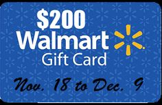 $200 WalMart Gift Card Giveaway. Ends 12/9 - Craft Cravings