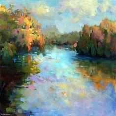 Golden Reflections by Trisha Adams Oil ~ 36 x 36
