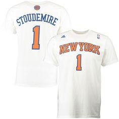 Amar'e Stoudemire New York Knicks adidas Player Name & Number T-shirt - White