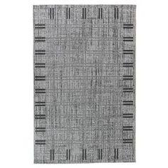 FLOORLUXE Tapis de salon tissé plat gris 160x230 cm