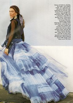 US Vogue March 1992 It's all in the mix Model: Carre Otis Ph: Patrick Demarchelier Fashion Editor: Carlyne Cerf de Dudzeele Hair: Sam McKnight Makeup: Mary Greenwell