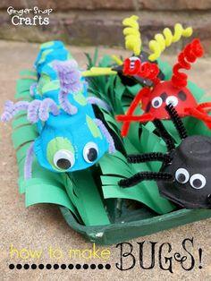 Roald Dahl Day Egg Carton Bugs ~ Kid Craft {tutorial}