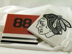 Chicago Blackhawks Coasters - 4 pack. $15.00, via Etsy. #blackhawks
