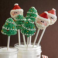 Christmas Tree and Santa Cake Pops