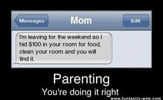 text message from mom via 12 Awesome Parents Who Are Doing It Right