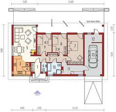 Projekt domu Eryk II G1 (30 stopni) 89,91 m² - koszt budowy - EXTRADOM Lampang, My Future Career, Design Case, Planer, House Plans, Floor Plans, House Design, How To Plan, Building